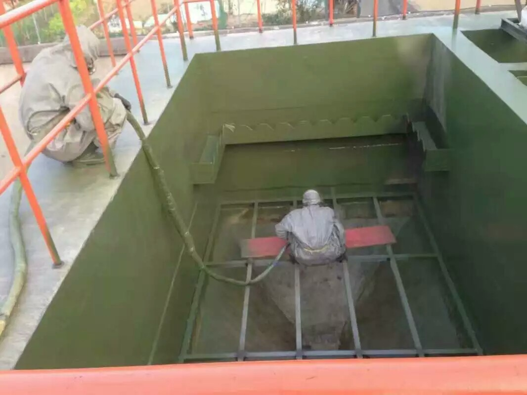 聚脲防腐应用案例之日照钢铁公司污水池